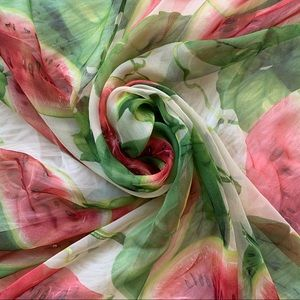Dolce & Gabbana Watermelon Print Silk Scarf
